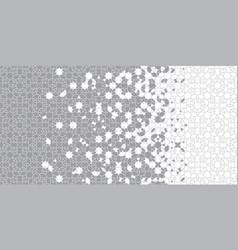Grey halftone border geometric halftone pattern vector