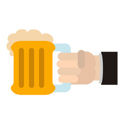 Hand holding a beer icon vector