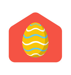happy home easter 2020 card with funny minimalist vector image
