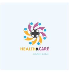 Healthy lifestyle logo template vector image