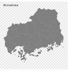 High quality map prefecture japan vector