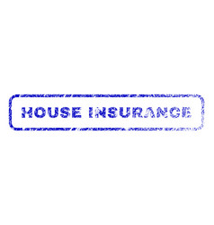 House insurance rubber stamp vector