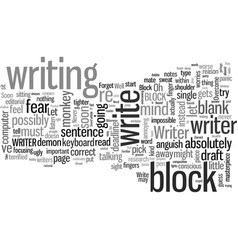 how to overcome writer s block vector image