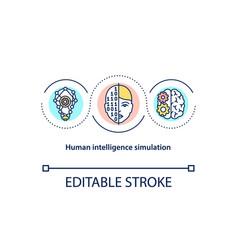 human intelligence simulation concept icon vector image