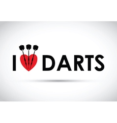 I love the darts vector