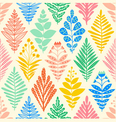 ikat flower rhombus damask seamless pattern vector image