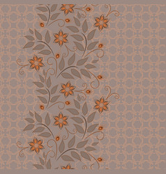 Lace flower vertical seamless pattern vector