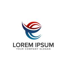 letter e logo design concept template fully vector image