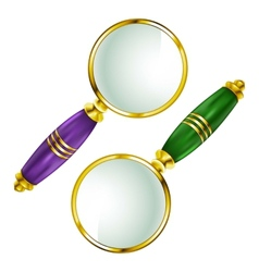 Magnifying lens Search vector image