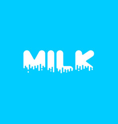 milk liquid lettering text dairy alphabet viscous vector image