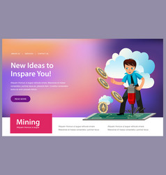 mining process of ethereum crypto currency poster vector image