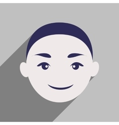 Modern flat icon with long shadow Indian boy vector