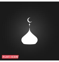 Mosque dome icon vector
