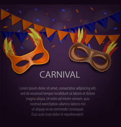 night carnival concept background realistic style vector image