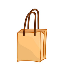paper bag isolated vector image
