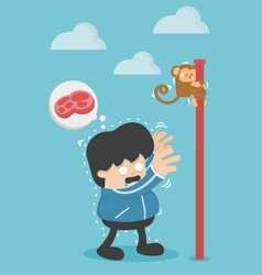 people lose weight hunger of people lose weight vector image
