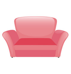 pink sofa on white background vector image
