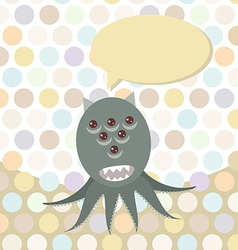 Polka dot background pattern Funny cute octopus vector image