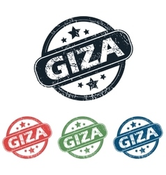 Round Giza city stamp set vector