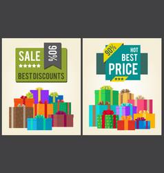 sale best discounts super hot prices final total vector image