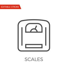 scales icon vector image