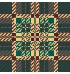 Seamless tartan pattern repeated plaid twill tile vector