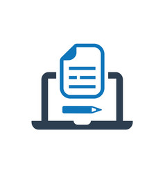 Seo content management icon vector