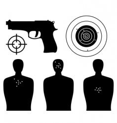 shooting gallery vector image