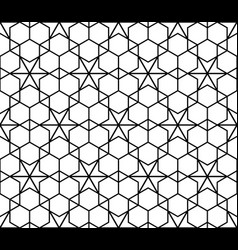 simple seamless geometric ornament in monochrome vector image