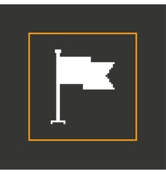Simple stylish pixel icon flag design vector image