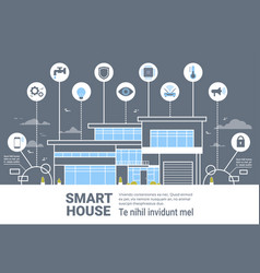 smart house control system interface infographics vector image