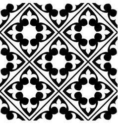 spanish and portuguese tile pattern moroccan vector image
