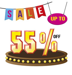 special 55 offer sale tag isolated vector image