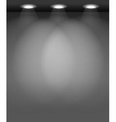 Spotlit wall vector