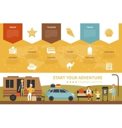 Start Your Adventure infographic flat vector