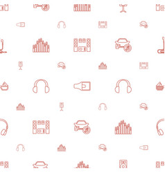 stereo icons pattern seamless white background vector image
