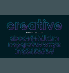 stylized font and alphabet abc colorful vector image
