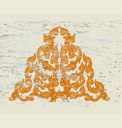 Thai style triangular art pattern vector