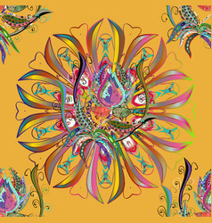 Traditional indian style ornamental floral vector