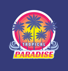 tropical paradise - concept vector image