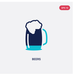 Two color beers icon from food concept isolated vector