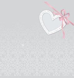 valentines day gift card background love heart vector image