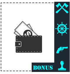 wallet icon flat vector image