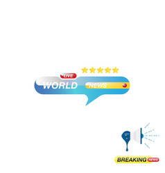 world news icon for journalism of news tv vector image