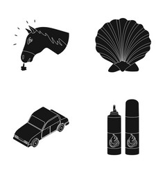 animal transport and or web icon in black style vector image vector image
