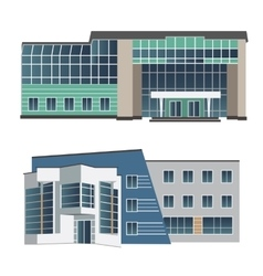Set of two modern buildings vector image