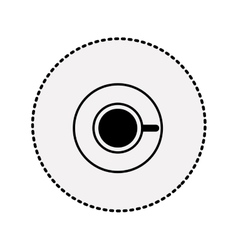 sticker silhouette coffee cup top view drink icon vector image vector image