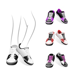 stylish sports shoes vector image vector image