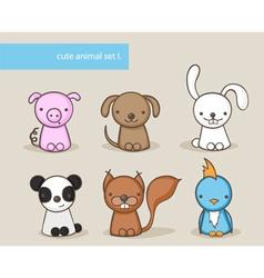 animal set 1 vector image
