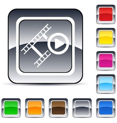 film square button vector image